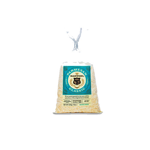 SARTORI CLASSIC GRATED CHEESE PARMESAN 8*z.