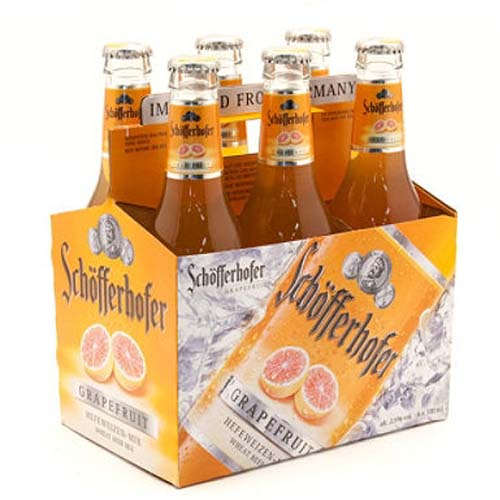 SCHOFFERHOFER HEFEWEIZEN GRAPEFRUIT BEER 6pk 11.2oz.