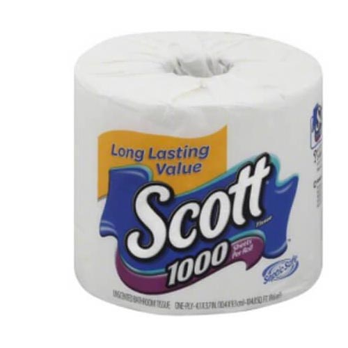 SCOTT UNSCENTED BATHROOM TISSUE 1PK