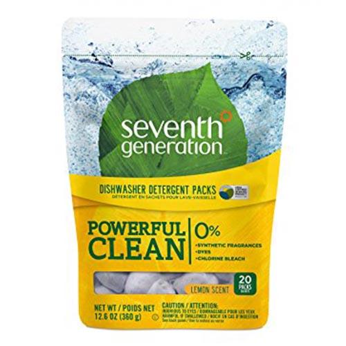 SEVENTH GENERATION POWERFUL CLEAN DETERGENT PACKS LEMON 12.6oz