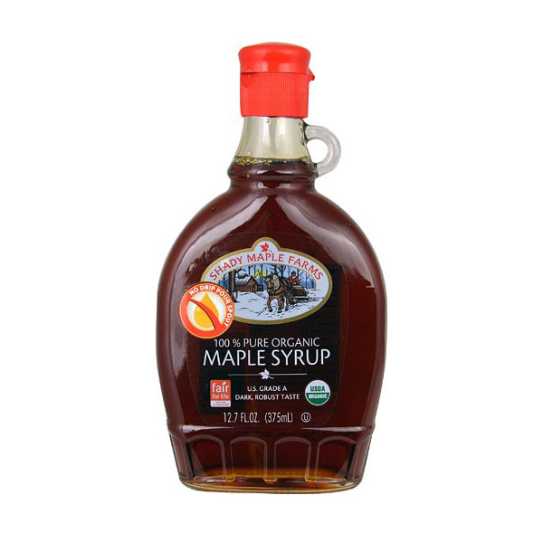 SHADY MAPLE FARMS ORGANIC DARK MAPLE SYRUP 12.7oz