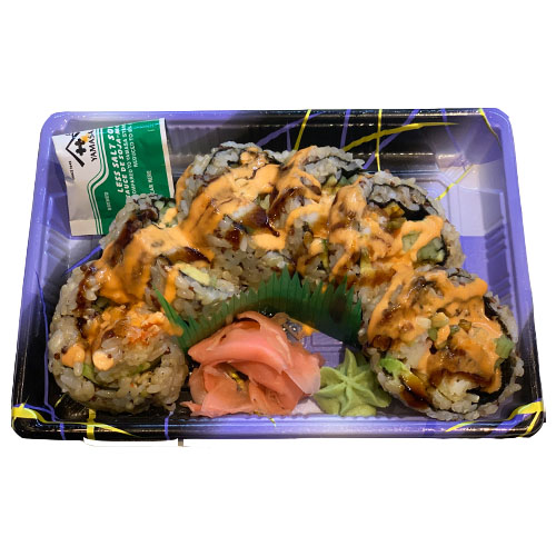 Shrimp Tempura Roll Quinoa (Brown Rice, Shrimp, Avocado, Cucumber, Imitation Crab, Seaweed, Vinegar,