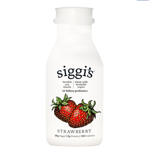 SIGGIS NON FAT DRINKABLE YOGURT STRAWBERRY 8oz