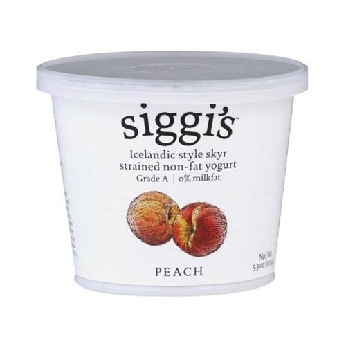 SIGGIS YOGURT 0% PEACH 5.3oz