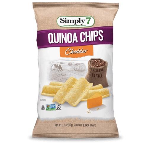 SIMPLY 7 QUINOA CHIPS CHEDDAR 3.5oz