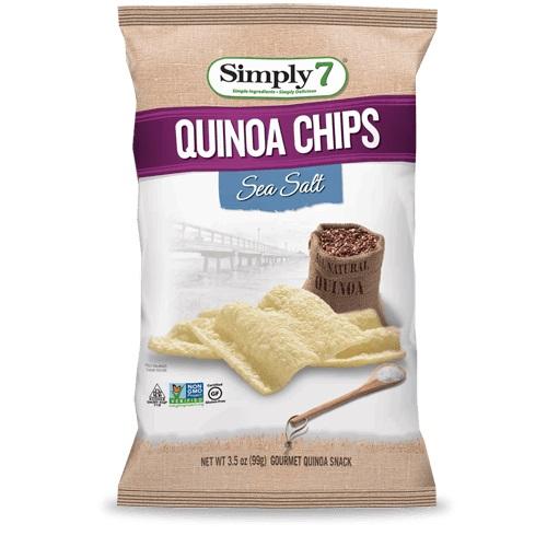 SIMPLY 7 QUINOA CHIPS SEA SALT 3.5oz