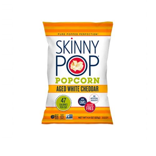 SKINNY POP POPCORN AGED WHITE CHEDDAR 4.4oz.