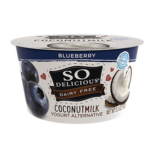 SO DELICIOUS DAIRY FREE YOGURT COCONUT MILK BLUEBERRY 5.3oz