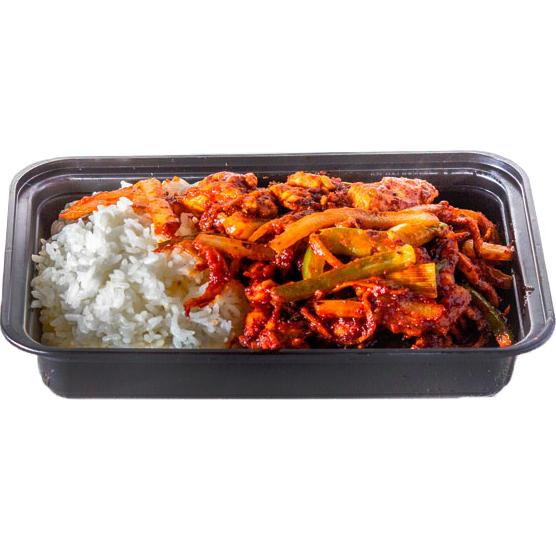 Spicy Chicken Stir Fry (Boneless Chicken Breast stir fried with Korean hot pepper sauce )