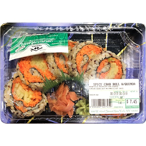 Spicy Crab Roll Quinoa (Brown Rice, Imitation Crab, Seaweed, Vinegar, Sugar, Salt, Mayonnaise, Hot S