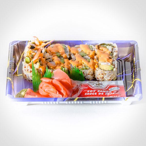 Spicy Shrimp Roll Quinoa (Brown Rice, Avocado, Cucumber, Shrimp, Seaweed, Vinegar, Sugar, Salt, Mayo