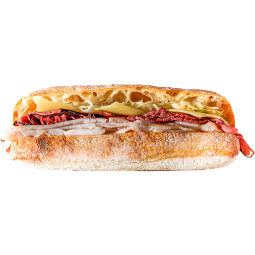 Spring Sub - Roasted Beef, Turkey, Swiss Cheese, Colesalw, Russian Dressing
