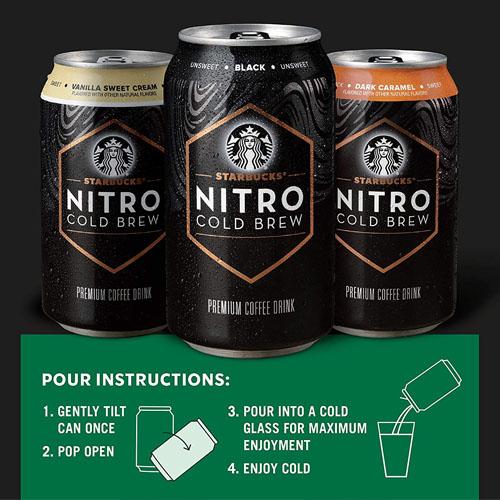 STARBUCKS NITRO COLD BREW COFFEE 9.5oz
