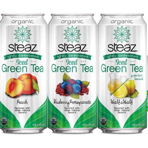 STEAZ ICED GREEN TEA 16oz