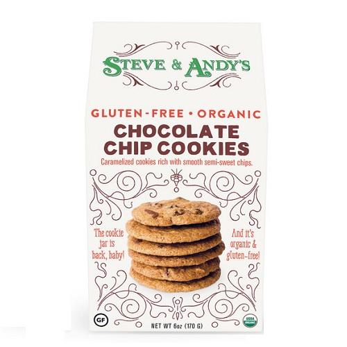 STEVE & ANDY'S COOKIES GLUTEN FREE ORGANIC CHOCOLATE CHIP 6oz