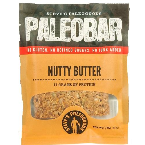 STEVE'S PALEOGOODS GLUTEN FREE PALEOKRUNCH NUTTY BUTTER  11gm OF PROTEIN 2.0oz