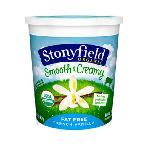STONYFIELD YOGURT ORGANIC FAT FREE FRENCH VANILLA 32oz