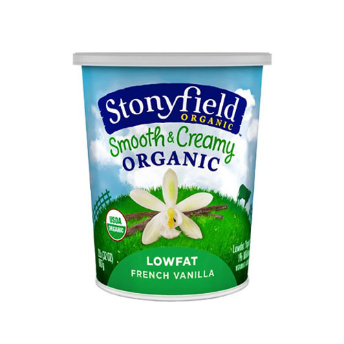 STONYFIELD YOGURT ORGANIC LOW FAT FRENCH VANILLA 6oz