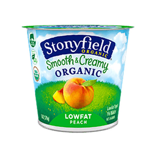 STONYFIELD YOGURT ORGANIC LOW FAT PEACH 6oz