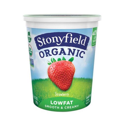 STONYFIELD YOGURT ORGANIC LOW FAT STRAWBERRY 32oz