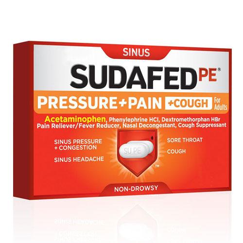 SUDAFED SINUS PRESSURE + PAIN 24capletd