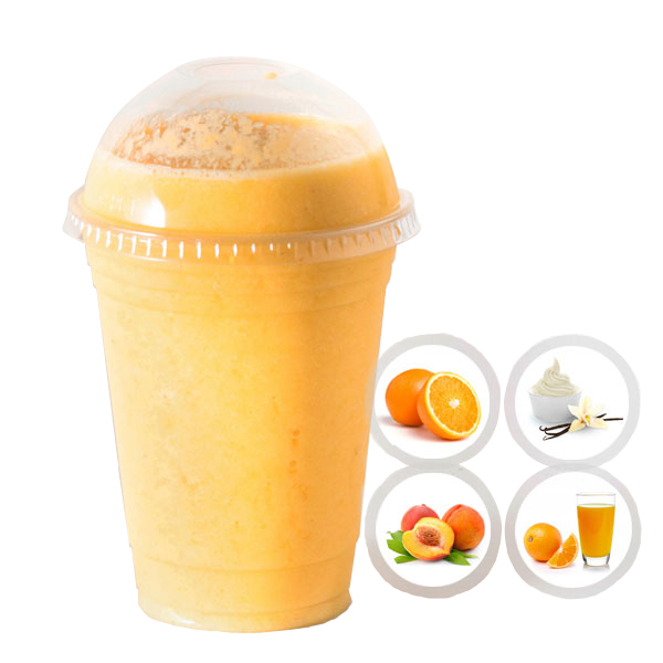 SUNNY DAY (ORANGE, PEACH, VANILLA YOGURT, ORANGE JUICE) SELECT 16oz OR 20oz