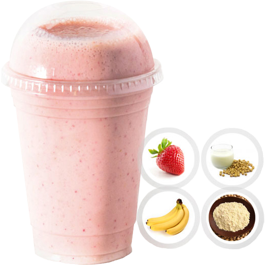 SUPER POWER (STRAWBERRY, BANANA, SOY MILK, SOY PROTEIN) SELECT 16oz OR 20oz