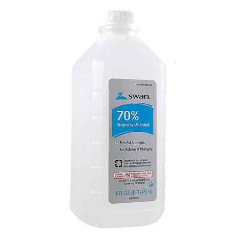 SWAN 70% ISOPROPYL ALCOHOL ANTISEPTIC 16oz