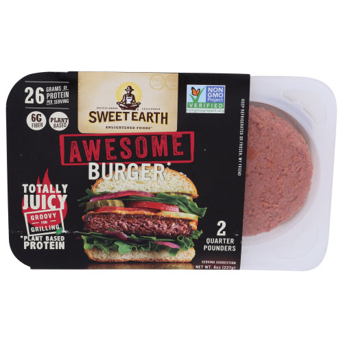 SWEET EARTH PLANT BASED PROTEIN AWESOME BURGER 8oz