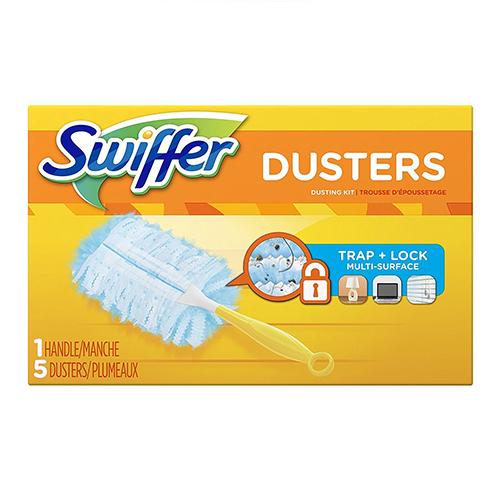 SWIFFER DUSTERS DUSTING KIT 1HANDLE 5DUSTERS
