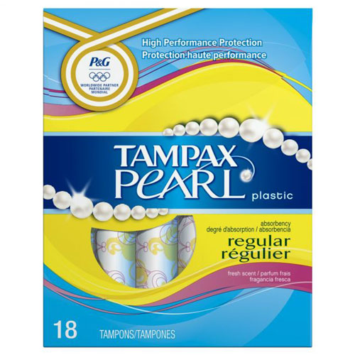 TAMPAX PEARL REGULAR TAMPONS 18ct