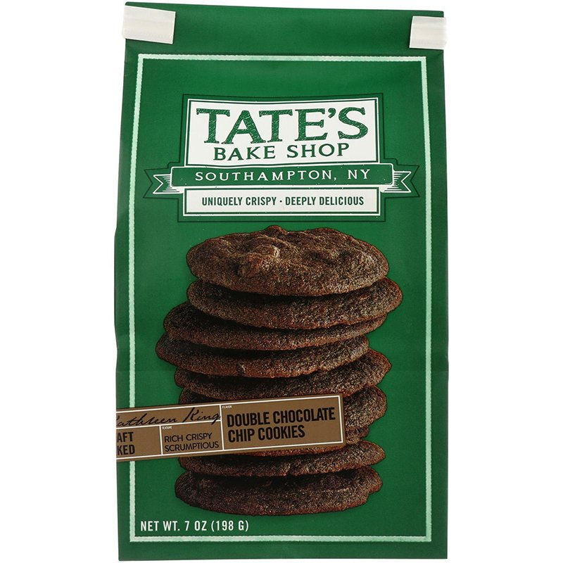 TATE'S DOUBLE CHOCOLATE CHIP COOKIES 7oz