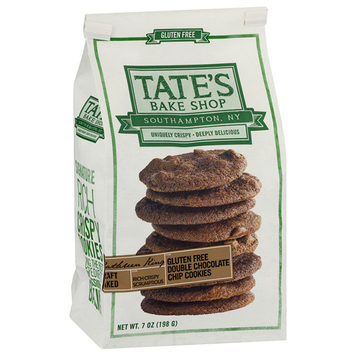TATE'S GLUTEN FREE DOUBLE CHOCOLATE CHIP COOKIES 7oz