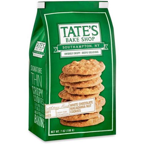 TATE'S WHITE CHOCOLATE MACADAMIA NUT COOKIES 7oz