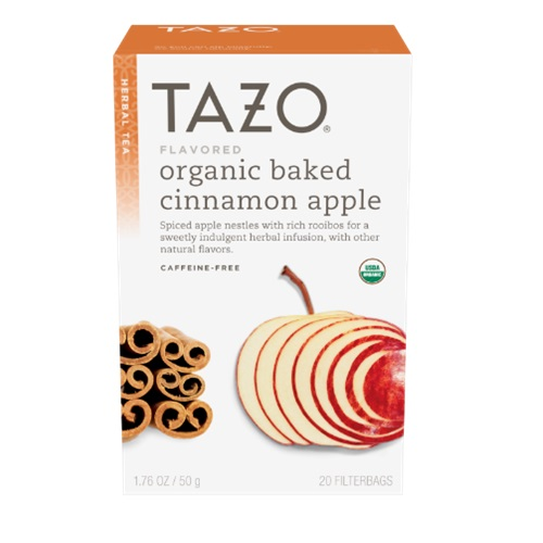 TAZO ORGANIC HERBAL TEA BAKED CINNAMON APPLE 20pc