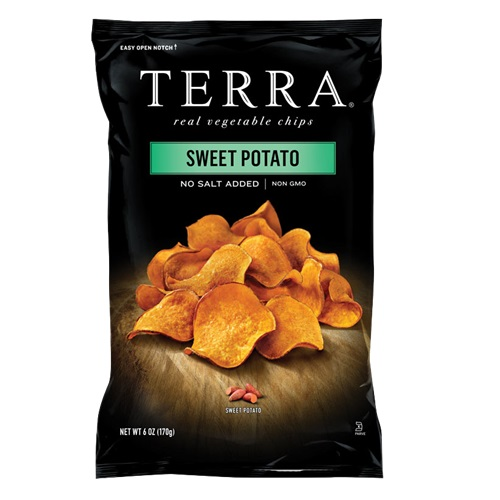 TERRA VEGETABLE CHIPS SWEET POTATO NO SALT ADDED 6oz.