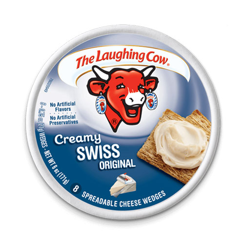 THE LAUGHING COW LIGHT CREAMY SWISS 6oz.