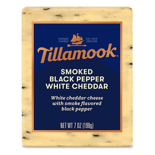 TILLAMOOK BLOCK SMOKED BLACK PEPPER WHITE CHEDDAR 7oz.