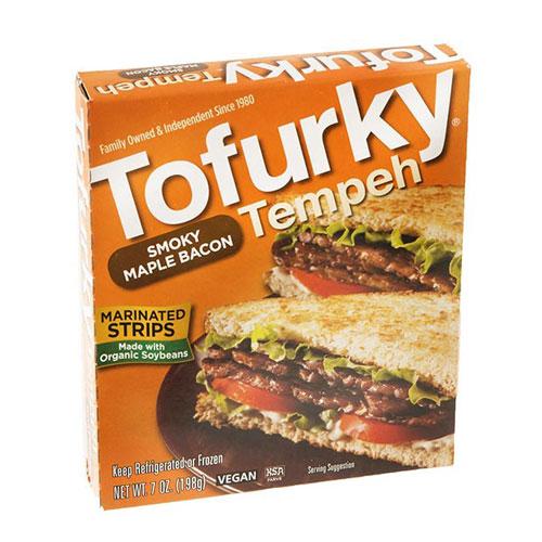 TOFURKY TEMPEH SMOKY MAPLE BACON 7oz