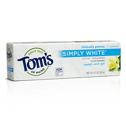 TOMS TOOTHPASTE SIMPLY WHITIE SWEET MINT GEL 4.7oz