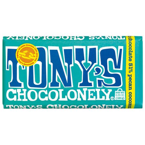 TONY'S CHOCOLONELY DARK CHOCOLATE PECAN COCONUT 6.35oz