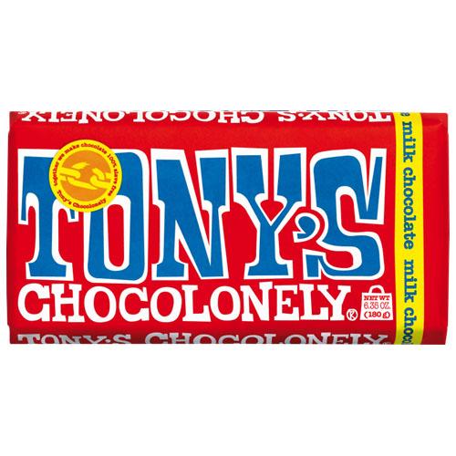 TONY'S CHOCOLONELY MILK CHOCOLATE 32% 6.35oz