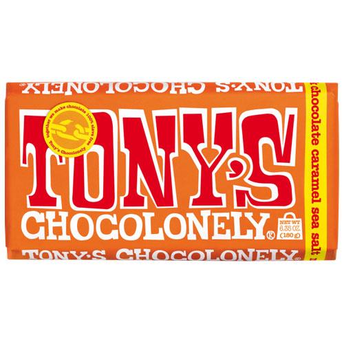 TONY'S CHOCOLONELY MILK CHOCOLATE 32% CARAMEL SEA SALT 6.35oz