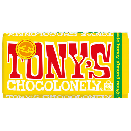 TONY'S CHOCOLONELY MILK CHOCOLATE 32% HONEY ALMOND 6.35oz