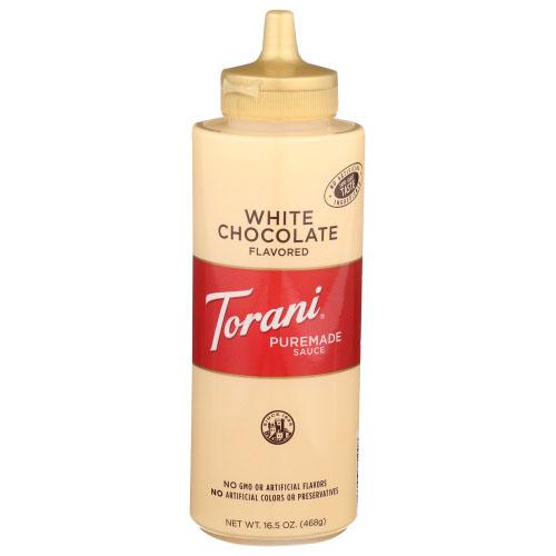 TORANI WHITE CHOCOLATE PUREMADE SAUCE 16.5oz