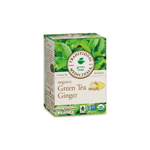 TRADITIONAL MEDICINALS GREEN TEAS ORGANIC GREEN TEA GINGER 16pc