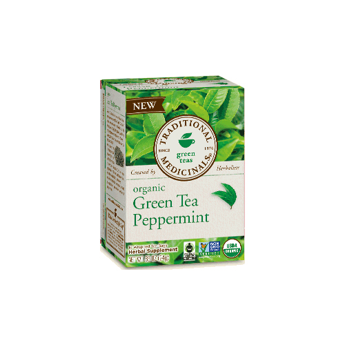 TRADITIONAL MEDICINALS GREEN TEAS ORGANIC GREEN TEA PEPPERMINT 16pc
