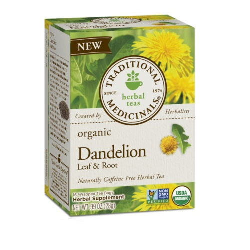 TRADITIONAL MEDICINALS HERBAL TEAS ORGANIC DANDELION LEAF & ROOT 16pc