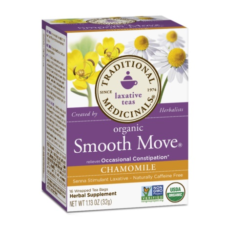 TRADITIONAL MEDICINALS LAXATIVE TEAS ORGANIC SMOOTH MOVE CHAMOMILE 16pc