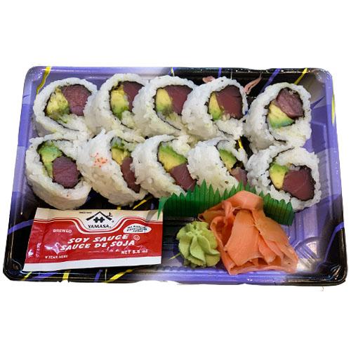 Tuna Avocado Roll (Rice, Tuna, Avocado, Seaweed, Vinegar, Sugar, Salt)